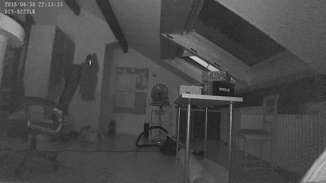 WLAN-Kamera DCS 5222L Nachtaufnahme